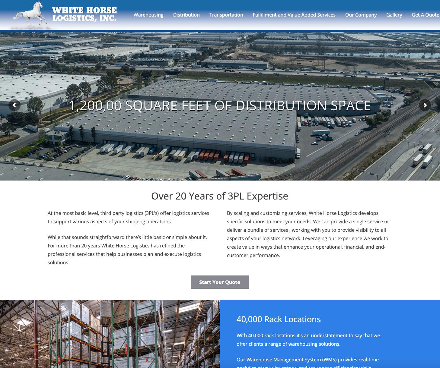 White Horse Logistics Warehouse Distribution Transportation