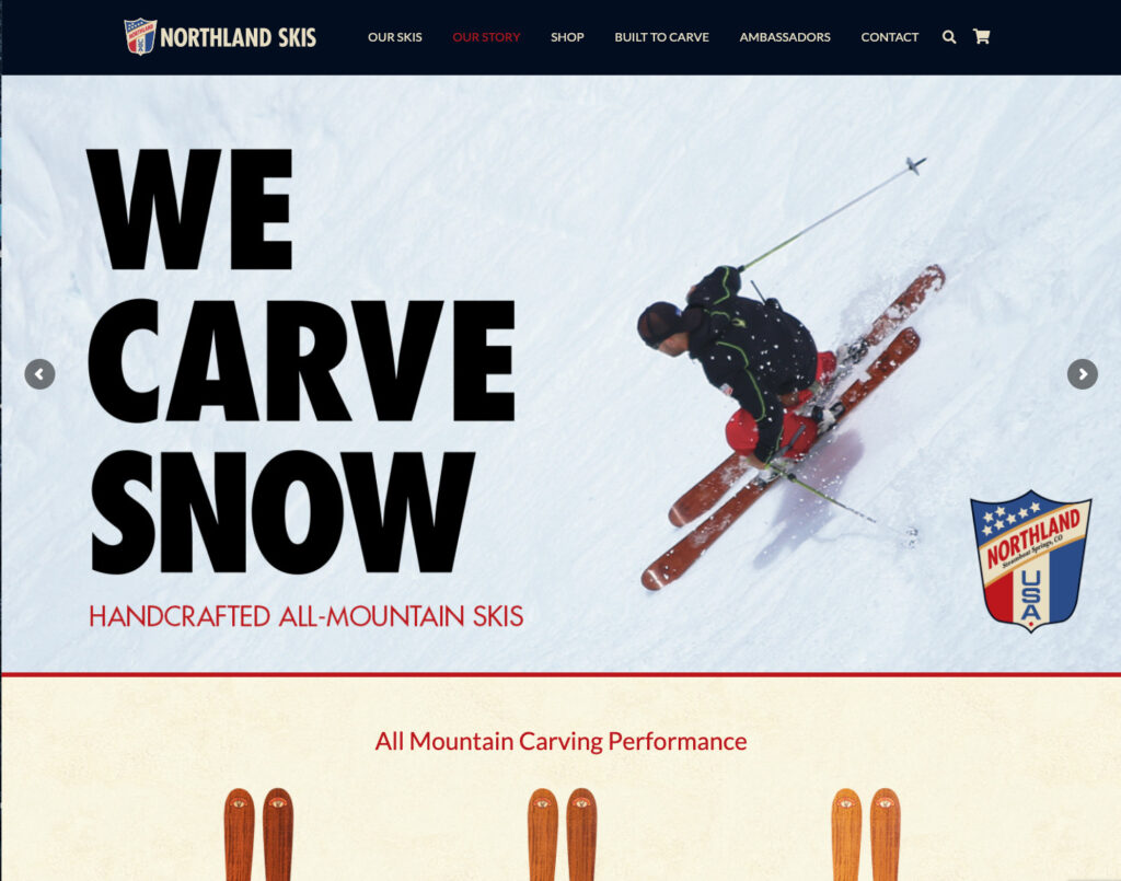 Northland Skis ecommerce website